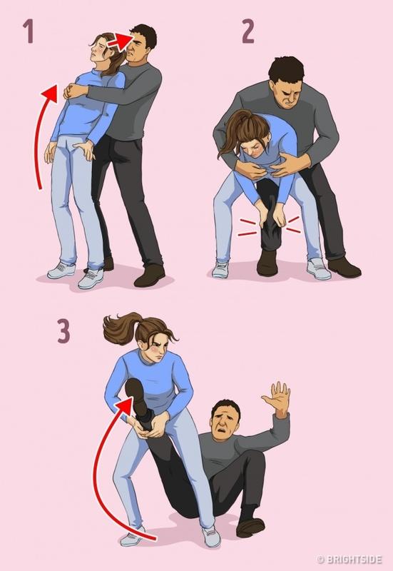ท่าป้องกันตัวสำหรับผู้หญิง