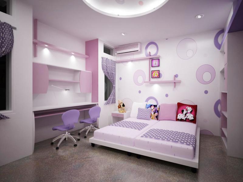 แต่งห้อง สีม่วง