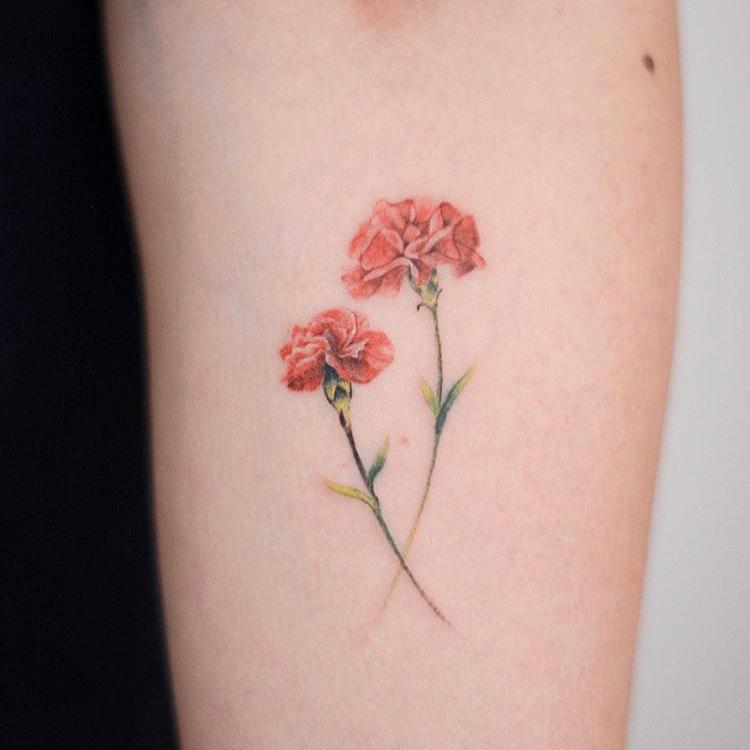 รอยสักลายดอกไม้