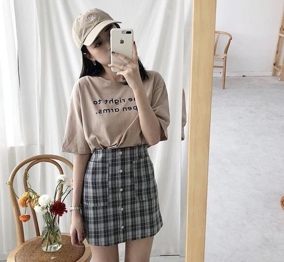 plaid-korean-fashion